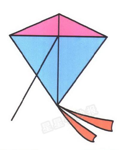 风筝简笔画图片教程