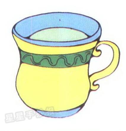 茶杯简笔画图片大全