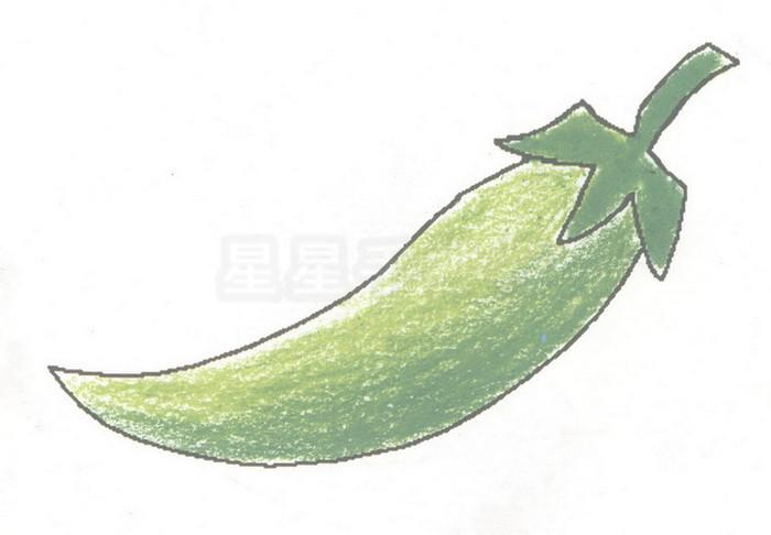 辣椒简笔画图片