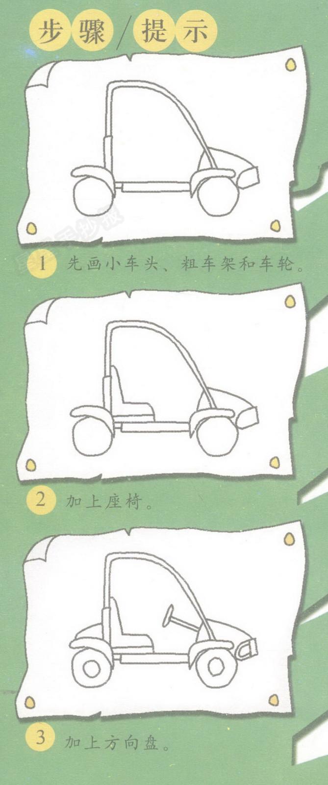卡丁车简笔画