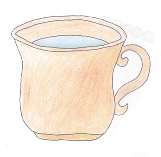 水杯简笔画图片