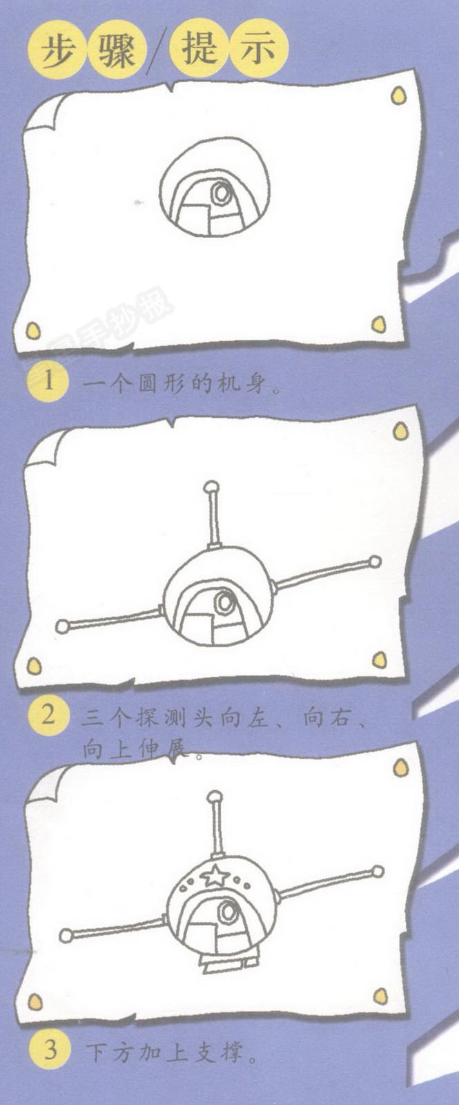 探测器简笔画图片
