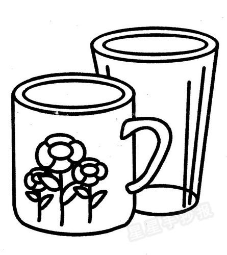 杯子简笔画图片