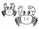 螃蟹简笔画图片教程