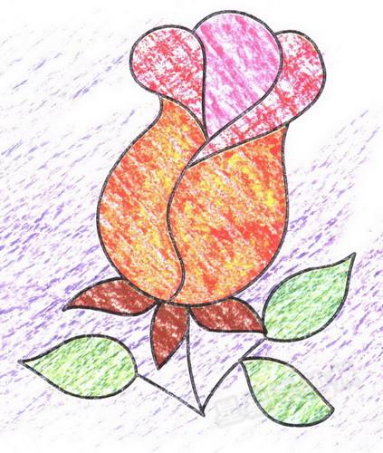 玫瑰简笔画图片