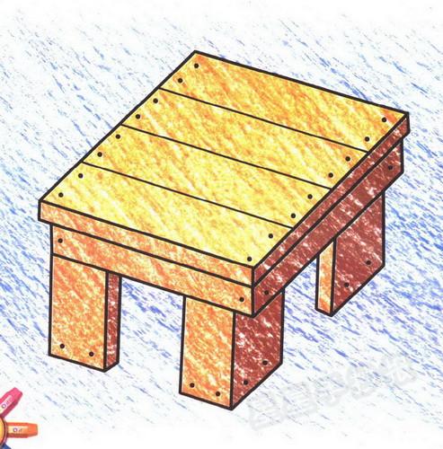 板凳简笔画图片
