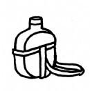 军用水壶简笔画