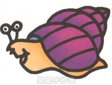 蜗牛简笔画