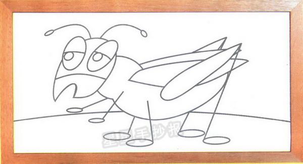 蟋蟀简笔画