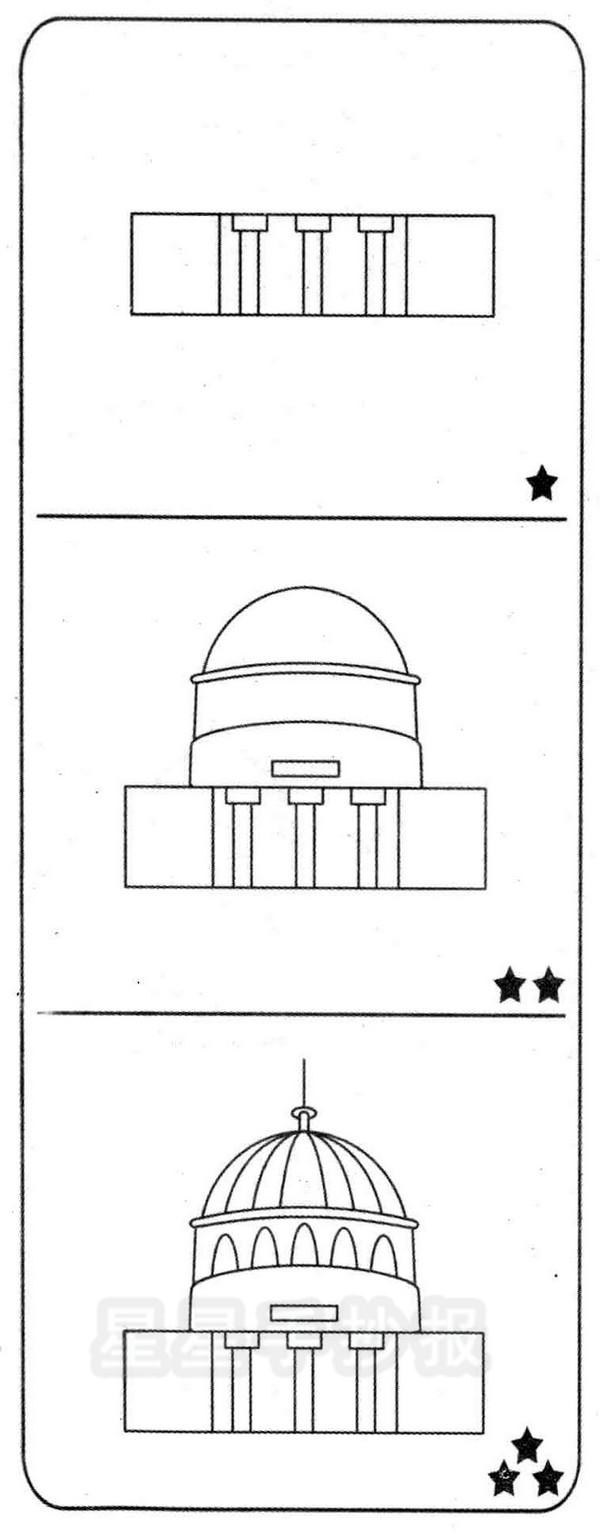 美国白宫简笔画