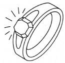 钻石戒指简笔画