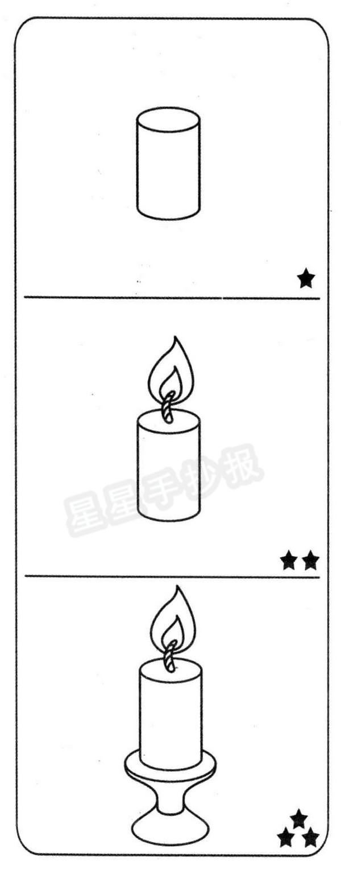 蜡烛简笔画