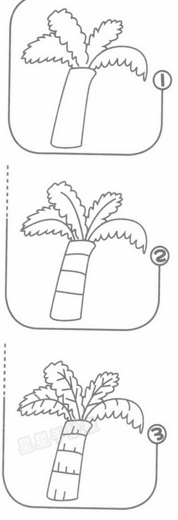 棕榈树简笔画