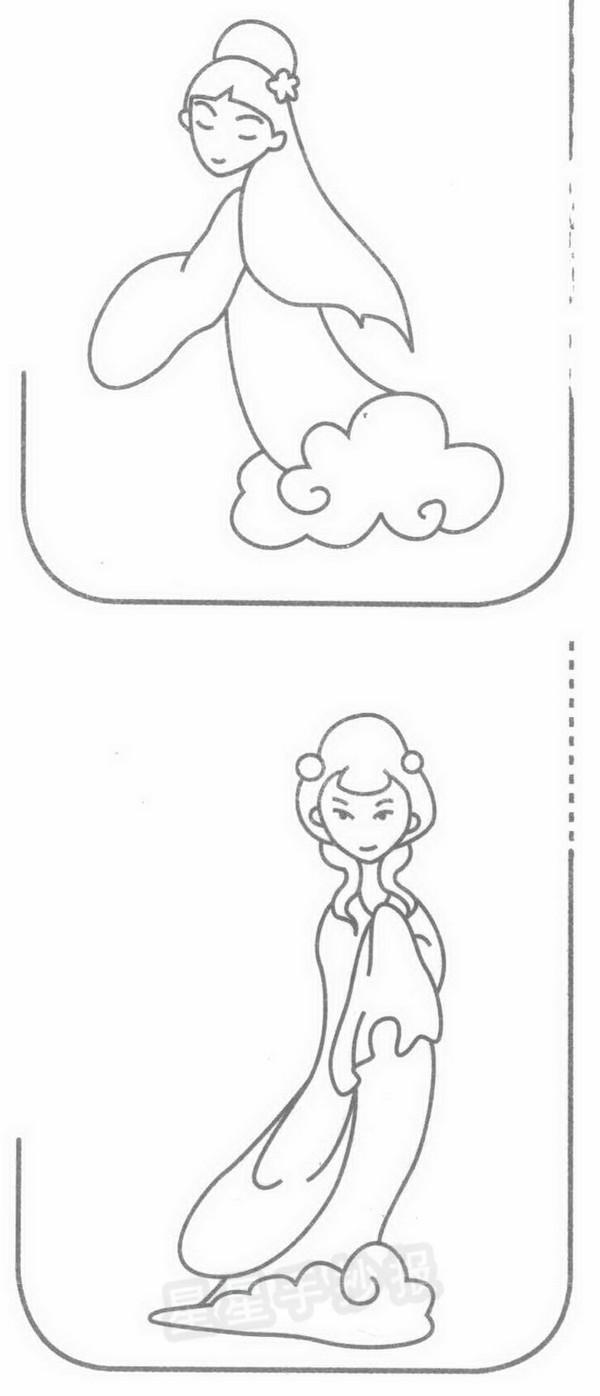 仙女简笔画