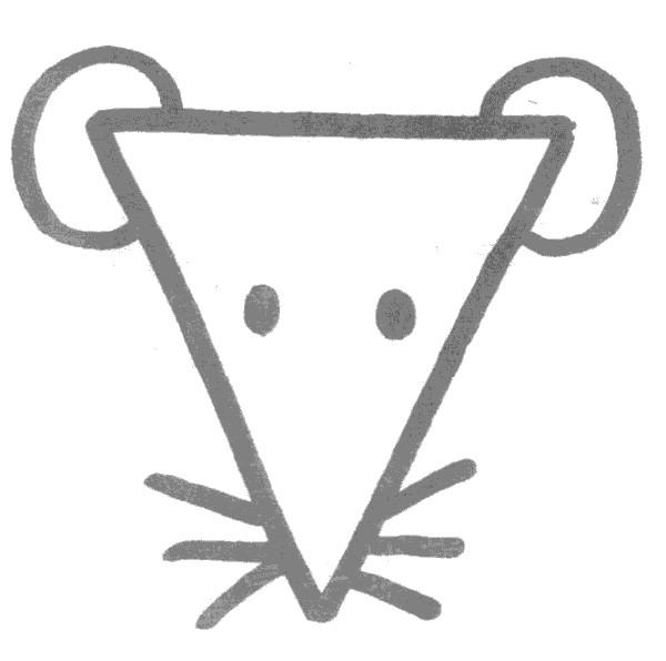老鼠简笔画怎么画图解教程