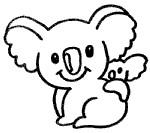 树袋熊简笔画