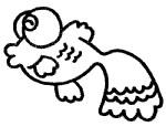 漂亮的金鱼简笔画