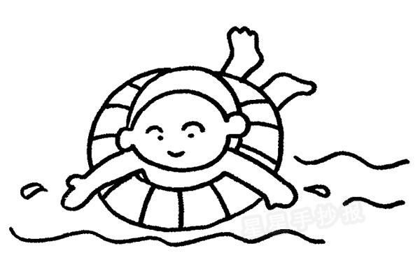 游泳简笔画