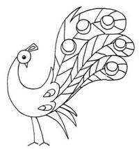 简单的孔雀简笔画