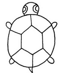 可爱的乌龟简笔画