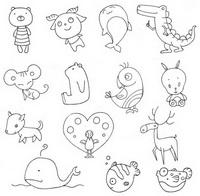 动物小图简笔画