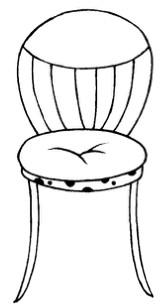 卡通椅子简笔画