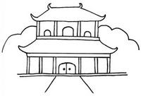 中国古代建筑简笔画