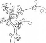 花树简笔画