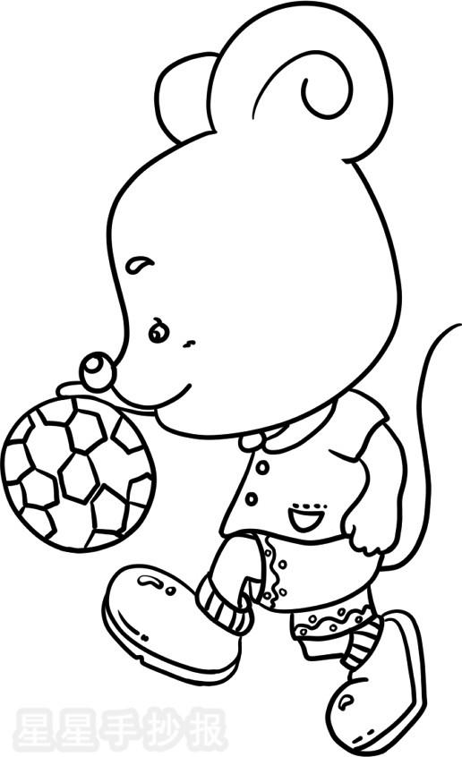 小老鼠简笔画