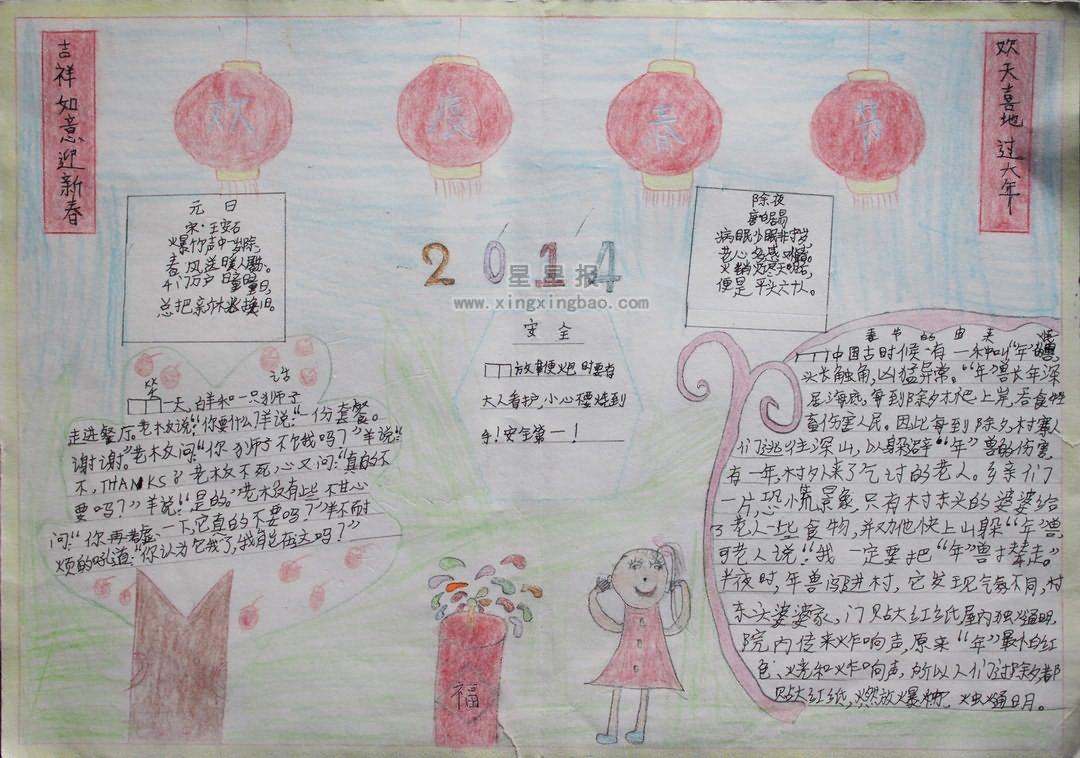 欢度春节手抄报资料