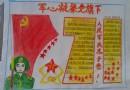 军心凝聚党旗下手抄报设计图