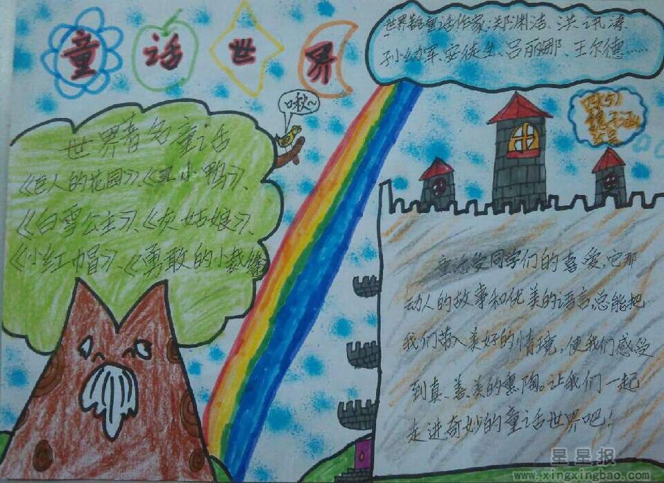 四年级童话世界手抄报内容