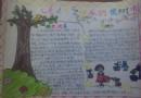快乐的植树节手抄报版面设计图