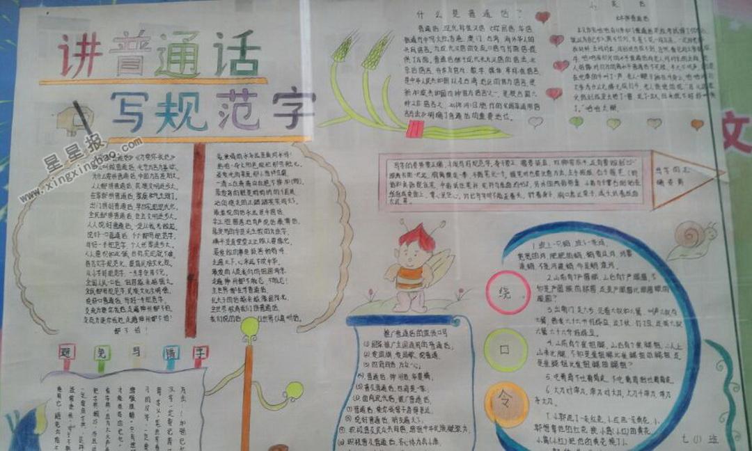 讲普通话写规范字手抄报资料