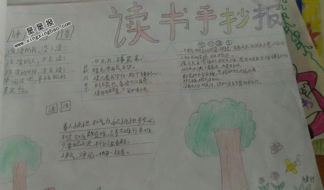 小学二年级读书手抄报