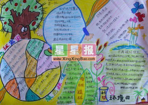 小学生环境日手抄报――绿色环保