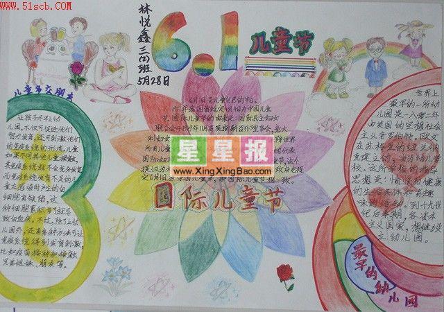 国际儿童节手抄报(林悦鑫作品)