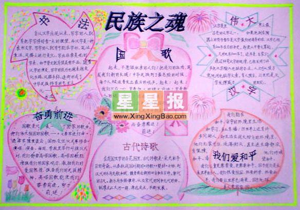 宜居重庆小学手抄报——民族之魂