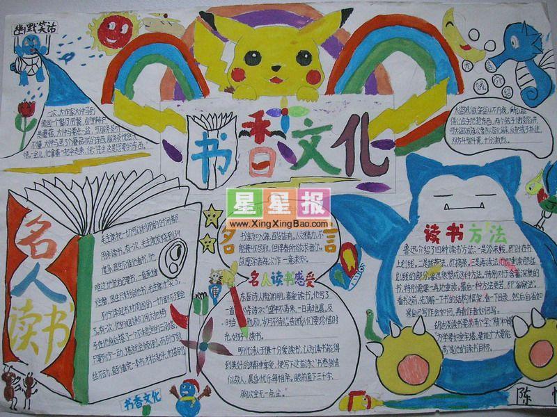 书香文化手抄报:名人读书感受